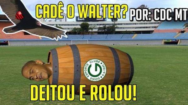 Vetado para a semifinal contra o Flamengo, Walter vira motivo de chacota para rubro-negros