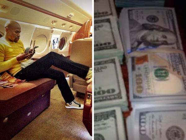 Floyd Mayweather posta vídeo de quantia alta de dinheiro: