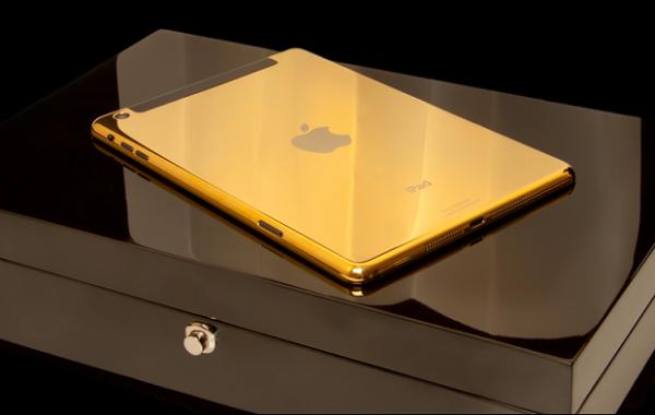 Novos iPads ganham verss de luxo com acabamento em ouro e pre輟 alto