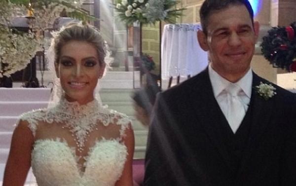 Com Minotauro e Feij縊 de padrinhos, Minotouro se casa com ex-miss em SC