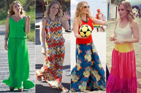 Veja o estilo básico e colorido de Angélica ao completar 40 anos