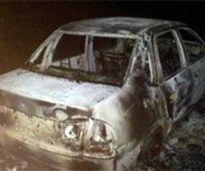 Bandidos ateam fogo em carro roubado no interior do Piauí