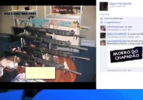 Traficantes trocam ameaças em rede social e exibem armas