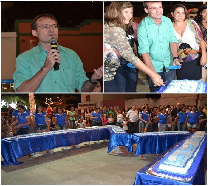 Massapê comemora 18 anos com muita atração e pela primeira vez com o corte do bolo