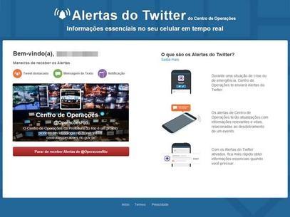Serviço de alertas de emergências do Twitter chega ao Brasil
