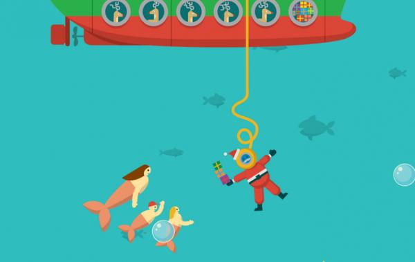 Boas Festas é tema de Doodle especial de Natal do Google