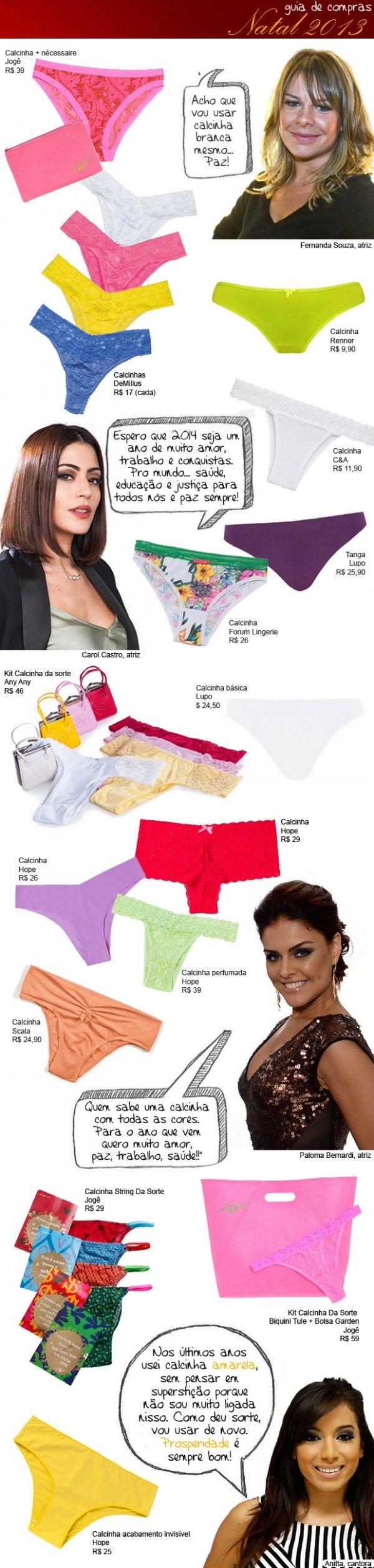 Faça como Anitta e escolha a cor da calcinha para o réveillon 2014