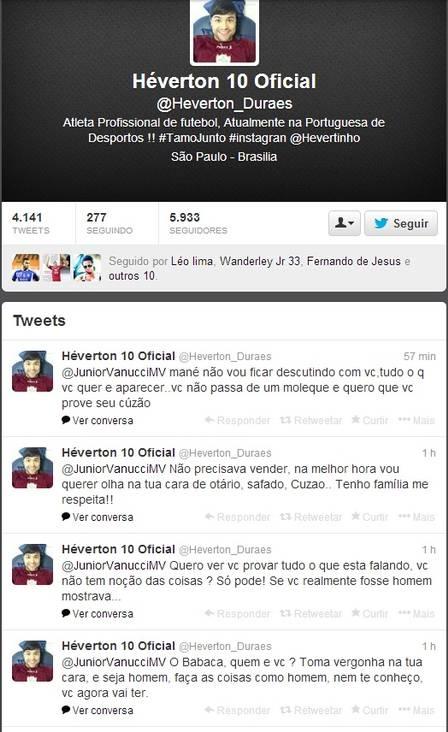 Hevérton, da Portuguesa, se irrita com torcedor do Palmeiras que lançou polêmica sobre ele