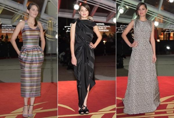 Marion Cotillard e Dior, um caso de amour; atriz é expert em escolher os vestidos mais exóticos da grife.