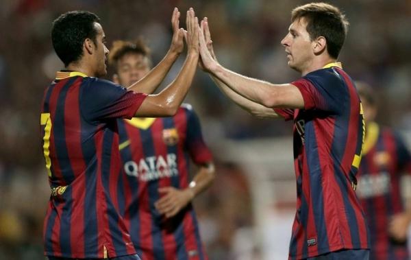 Messi ganha companhia de Pedro na artilharia do Barça. Neymar é terceiro