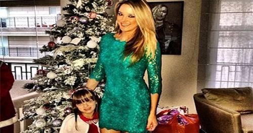 Rafaela Justus e a sua mãe Ticiane Pinheiro mostram os looks natalinos