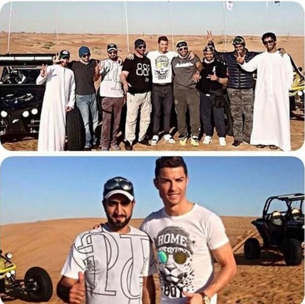 Ao lado da namorada Irina Shayk e do filho, CR7 aproveita folga em Dubai