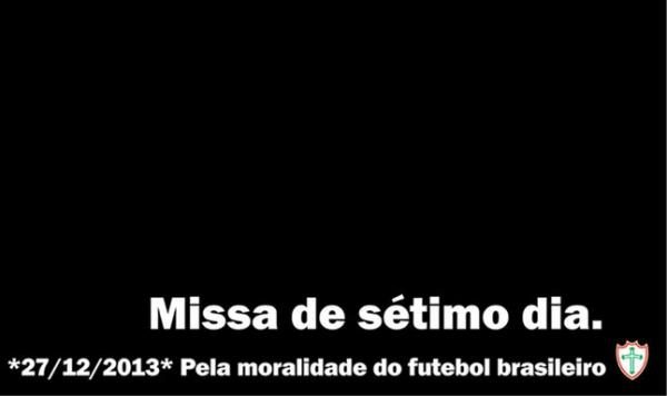 Lusa ironiza decisão do STJD e insinua morte da moralidade do futebol