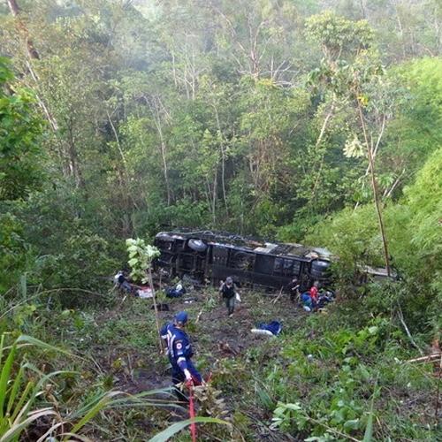 Ônibus de Dorgival Dantas tomba em rodovia de GO