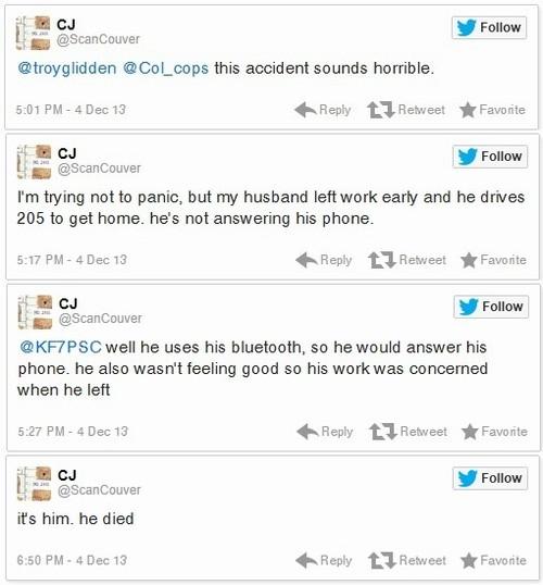 Mulher posta sobre acidente e depois descobre que o marido morreu nele