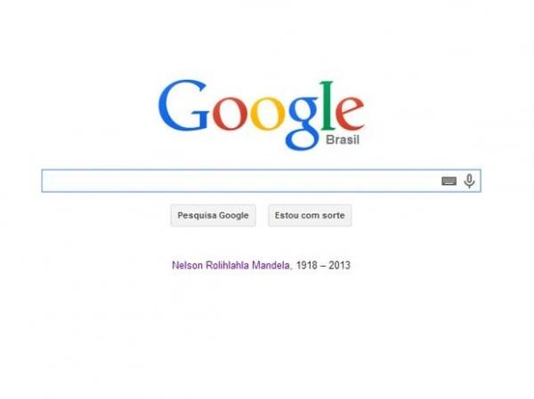 Google homenageia Nelson Mandela