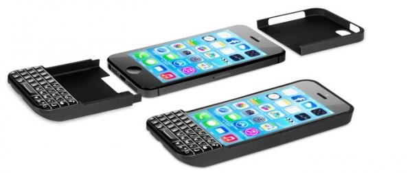 iPhone ao estilo BlackBerry: capa com teclado aumenta visão da tela