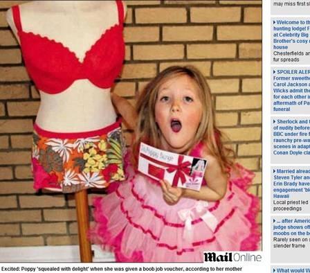 Inglesa dá lipoaspiração de presente de Natal para a filha de sete anos