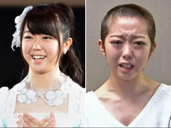 Cantora japonesa raspa cabelo como castigo por passar noite com jovem