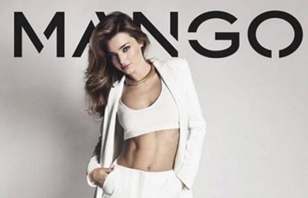 Miranda Kerr mostra sua barriga sarada na nova campanha da Mango