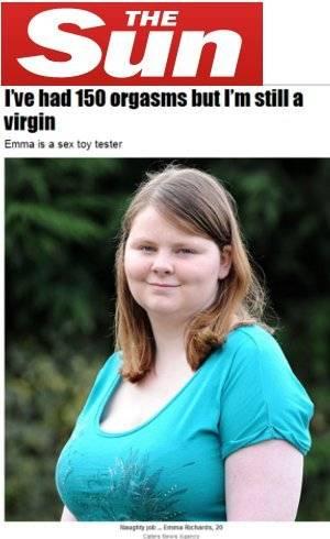 Inglesa tem 150 orgasmos, mas continua virgem