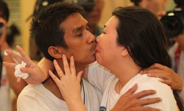 Com tempo de 58 horas, casal bate recorde mundial de beijo mais longo
