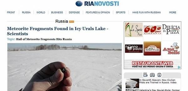 Site de vendas russo tem ofertas de meteorito que caiu na sexta-feira
