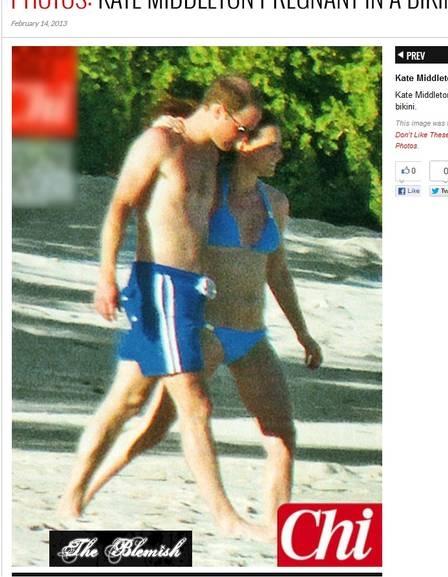Biquíni que Kate Middleton usou no Caribe é de brasileira e tem aplicações banhadas a ouro