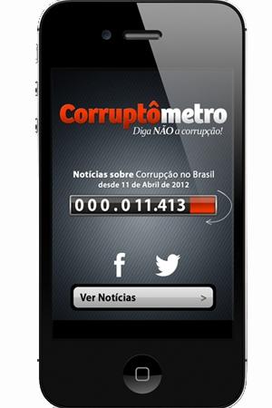 Aplicativo Corruptômetro reúne notícias sobre corrupção no Brasil
