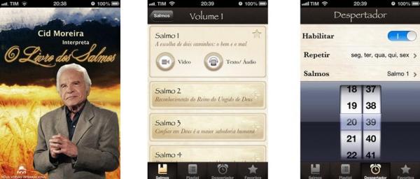 Cid Moreira Interpreta o Livros dos Salmos? é lançado em aplicativo para iOS
