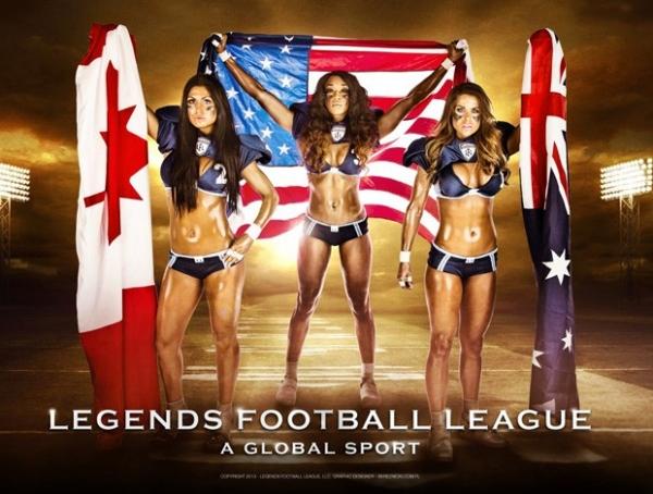 Liga de futebol americano de lingerie diz que fará torneio no Brasil em 2014