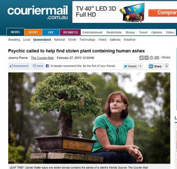 Australiana pede ajuda até de vidente para encontrar bonsais roubados