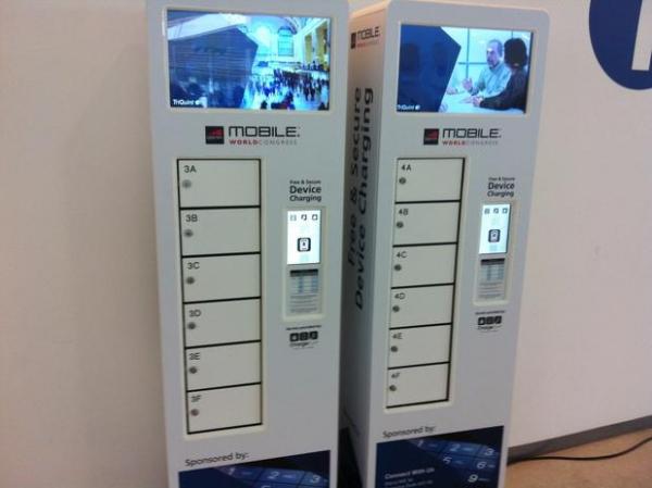 MWC tem armários com carregadores de celular embutidos