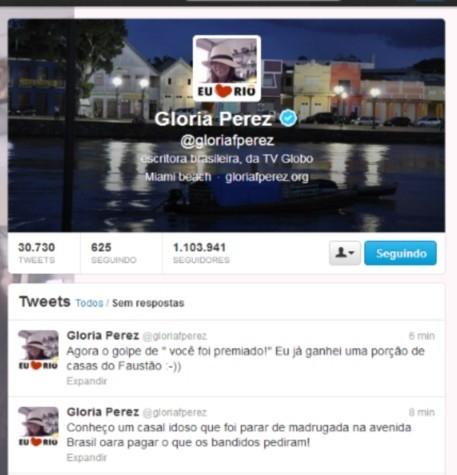 Bandidos tentam dar golpe em Glória Perez