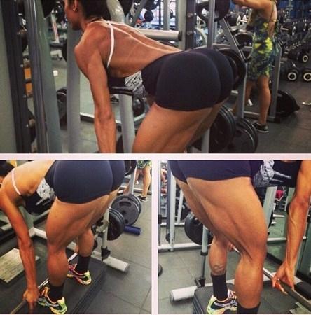 Gracyanne Barbosa posa sem noção durante treino na academia
