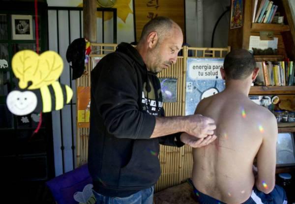 Acupunturista usa abelha no lugar de agulha e faz sucesso entre pacientes
