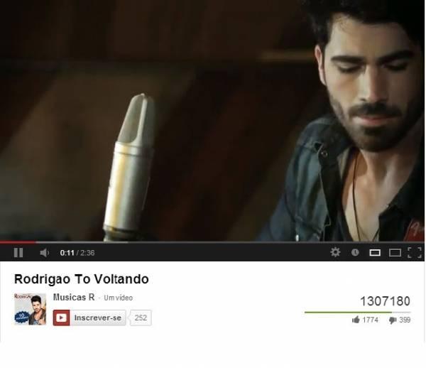 Ex-BBB Rodrigão lança clipe que tem 1 milhão de acessos em 48 horas