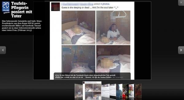 Enfermeira sadomasoquista posta foto com cadáveres e causa revolta no Facebook