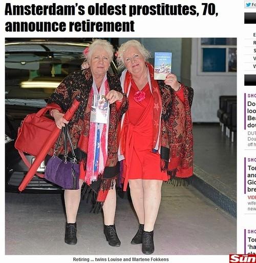 Aos 70 anos, prostitutas mais velhas de Amsterdã se aposentam