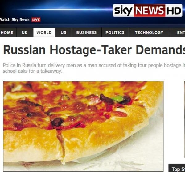 Criminoso faz reféns e exige pizza e refrigerante aos policiais na Rússia