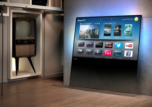 Nova Smart TV conceito da Philips dispensa suporte ou mesa