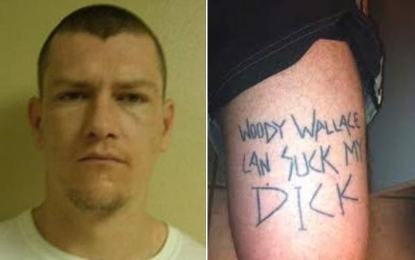 Lista reúne tatuagens bizarras exibidas por criminosos nos EUA