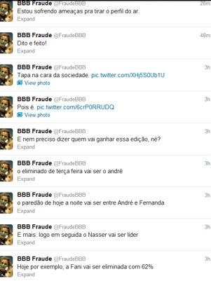 BBB13: perfil do Twitter aponta Fernanda campeã, insinua fraude