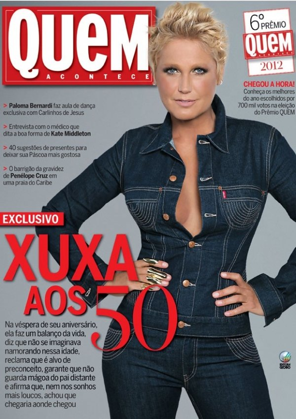 Xuxa arrasa no decote: