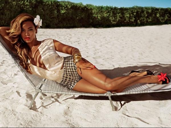 Beyoncé posa nas Bahamas para campanha de loja de departamento