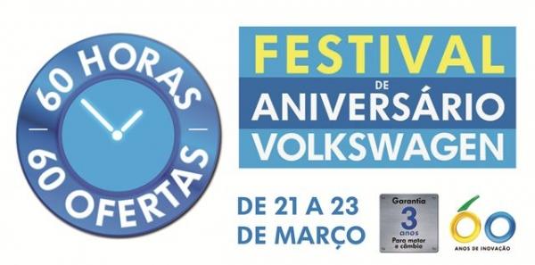 Volkswagen comemora 60 anos de Brasil com grande promoção neste final de semana