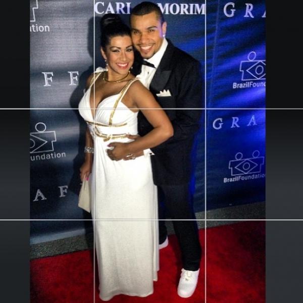 Naldo e Mulher Moranguinho vão elegantes à baile beneficente nos EUA