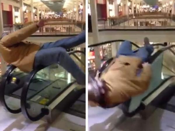 Adolescente destrói escada rolante em brincadeira em shopping