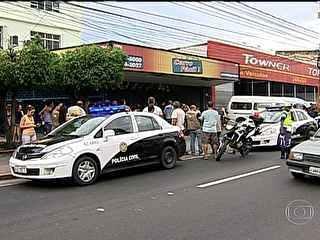 Polícia que imagens para investigar chacina em concessionária