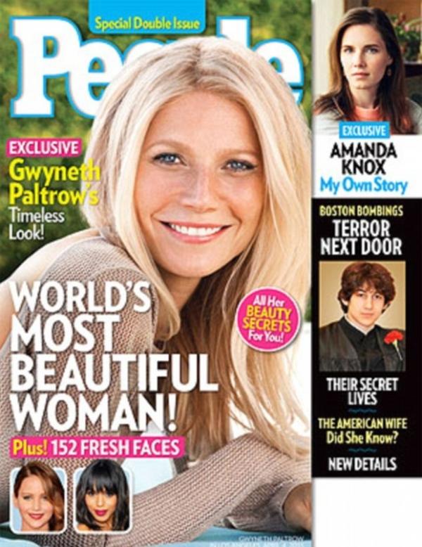 Gwyneth Paltrow é eleita a mulher mais bonita do mundo por revista